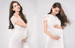 Mang bầu 6 tháng, vợ Châu Kiệt Luân xinh đẹp rạng ngời
