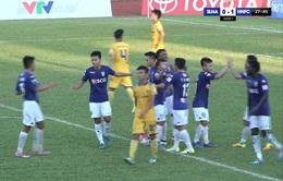 VIDEO Vòng 17 V.League: Sông Lam Nghệ An 1 - 2 CLB Hà Nội