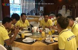 Các VĐV hài lòng về công tác hậu cần tại VTV Cúp Tôn Hoa Sen 2017