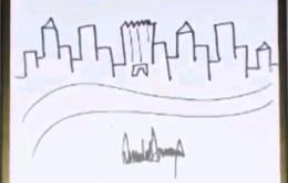 """Đấu giá bức họa """"Nhà chọc trời New York"""" của Tổng thống Donald Trump"""