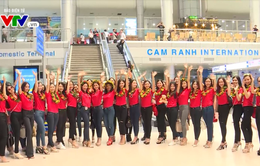 63 thí sinh Hoa hậu Hoàn Vũ đến Nha Trang bắt đầu vòng bán kết