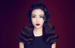 Hoa hậu Mỹ Linh khác lạ khi diện đồ đen từ đầu đến chân