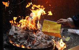 Cảnh báo hỏa hoạn vì đốt vàng mã