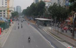 """Ngày đầu trở lại làm việc, đường phố Hà Nội thông thoáng """"lạ thường"""""""