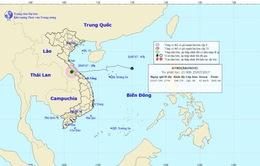 Áp thấp nhiệt đới suy yếu từ bão số 4 đi sang địa phận nước Lào
