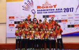 ĐT Nhật Bản vô địch Giải cầu lông Robot đồng đội nam nữ châu Á 2017