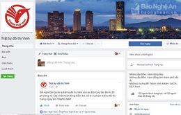Thành phố Vinh lập Facebook tiếp nhận thông tin vi phạm trật tự đô thị