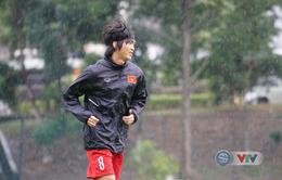 Ảnh: U22 Việt Nam hào hứng tập dưới mưa