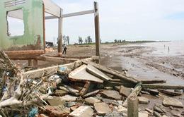 Thiếu hụt phù sa gây gia tăng sạt lở bờ biển ở ĐBSCL