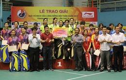 Giải cầu lông đồng đội toàn quốc 2017: Đoàn Hà Nội và Bắc Giang giành ngôi vô địch