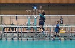 Đội tuyển bóng chuyền Nhật Bản nâng cao trình độ nhờ robot