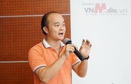 """Nhóm tác giả sản phẩm di động """"toát mồ hôi"""" bảo vệ Chung khảo Nhân tài Đất Việt 2016"""