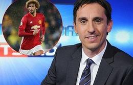 Gary Neville: 'Fellaini đã làm điều ngu ngốc. Không thể trách Mourinho được'