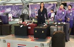 2 tạ hành lý của Lệ Hằng mang tới Miss Universe chưa là gì so với Hoa hậu Thái Lan