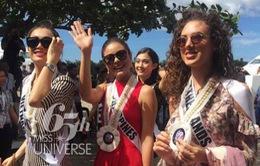 Lệ Hằng tự tin trình diễn quốc phục Philippines tại Hoa hậu Hoàn vũ