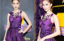 """Hoa hậu Đặng Thu Thảo """"tái xuất"""" quyến rũ với sắc tím"""