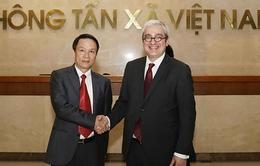 Tổng Giám đốc TTXVN tiếp Chủ tịch, Giám đốc điều hành Hãng Thông tấn Pháp AFP