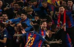 Cổ động viên Barca gây ra ĐỘNG ĐẤT vì ăn mừng bàn thắng của Sergi Roberto