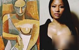 Mặc áo khoe nguyên vòng 1, Nicki Minaj tuyên bố lấy cảm hứng từ... Picasso