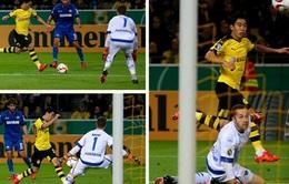 Kagawa ghi bàn như Messi trong chiến thắng 7-1 của Dortmund trước Paderborn