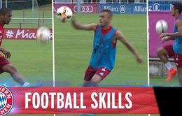 Cầu thủ Bayern Munich 'gây choáng' với màn chuyền bóng trên sân tập