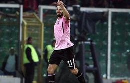 Palermo 1-1 Inter Milan: Inter không thắng trận thứ 4 liên tiếp, lỡ cơ hội lên đầu bảng