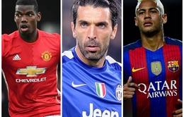 TIẾT LỘ: Pogba, Neymar và Buffon bị loại khỏi đội hình tiêu biểu năm 2016