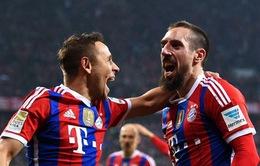Bayern Munich 1-0 Bayer Leverkusen: Chỉ một bàn của Ribery là đủ