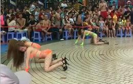 Dừng chương trình vũ công diện bikini nhảy phản cảm ở Đầm Sen