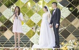 """""""Én nhỏ"""" Triệu Vy xuất hiện rạng ngời trong đám cưới """"bản sao"""""""