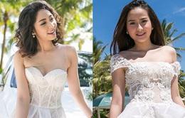 """Hoa khôi Khánh Ngân """"xúng xính"""" váy cưới trên biển"""