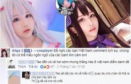 """Bình luận khiếm nhã trên facebook, """"anh hùng bàn phím"""" Việt bị nữ cosplay nhắc nhở"""