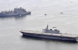 Tàu chiến Nhật Bản phối hợp với tàu Mỹ ở Thái Bình Dương