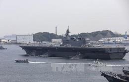 Nhật Bản điều thêm tàu chiến hộ tống tàu hải quân Mỹ