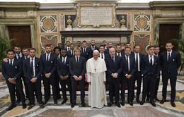 Giáo hoàng Francis gặp gỡ các cầu thủ Juventus và Lazio trước chung kết cúp quốc gia Italia