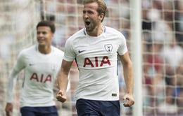 Kane ghi bàn nhiều hơn Ronaldo trong năm 2017