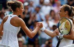 Vòng 2 đơn nữ Wimbledon 2017: Pliskova và Mladenovic dừng bước