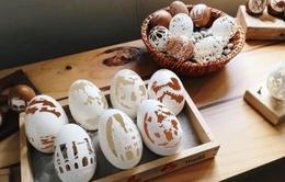 Độc đáo nghệ thuật khắc vỏ trứng