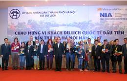 Hà Nội đón khách quốc tế đầu tiên của năm 2017