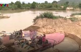 Phú Yên: Chấn chỉnh tình trạng khai thác cát trên sông Ba