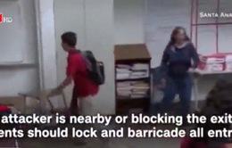 Bài học đối phó khủng bố cho toàn học sinh tại Mỹ