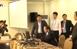 Bộ trưởng Trương Minh Tuấn thăm, kiểm tra Trung tâm báo chí APEC