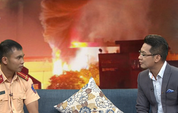 Gặp Trung úy CSGT dũng cảm cứu người khỏi đám cháy ở thị trấn Xuân Mai