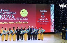 Lễ trao giải thưởng Kova năm 2017