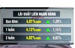 Lãi suất liên ngân hàng bất ngờ tăng mạnh