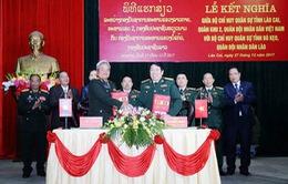 Bộ chỉ huy Quân sự Lào Cai - Bò Kẹo tổ chức lễ kết nghĩa