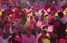 """500 cặp vợ chồng cao tuổi người Trung Quốc tham gia """"cưới lại"""""""