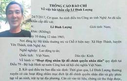 Nghệ An: Bắt khẩn cấp đối tượng Lê Đình Lượng vì tội chống phá Nhà nước