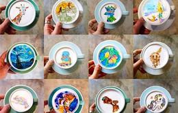 Hàn Quốc: Vẽ tranh nghệ thuật trên những tách cà phê
