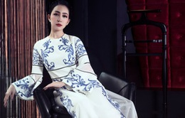 Linh Nga đẹp kiêu sa trong bộ sưu tập áo dài mới